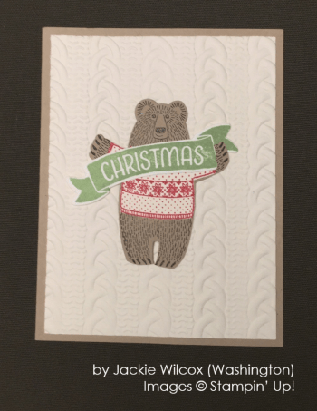 by Jackie Wilcox, Stampin' Up!, Holiday One-for-One Swap