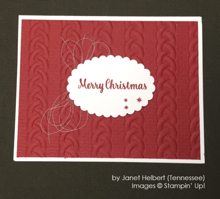by Janet Helbert, Stampin' Up!, Holiday One-for-One Swap