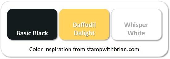 Stampin' Up! Color Inspiration: Basic Black, Daffodil Delight, Whisper White