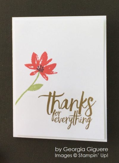 by Georgia Guguere, Stampin' Up! swap card, thank you card
