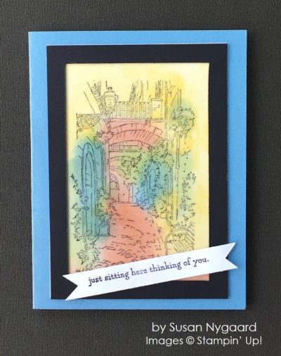 by Susan Nygaard, Stampin' Up! swap, Mediterranean Moments