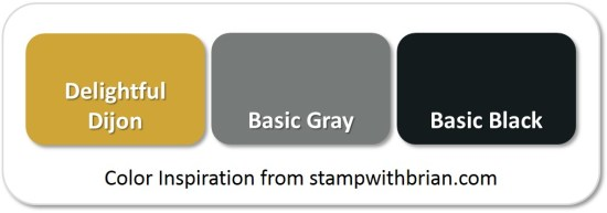 Stampin' Up! Color Inspiration: Delightful Dijon, Basic Gray, Basic Black