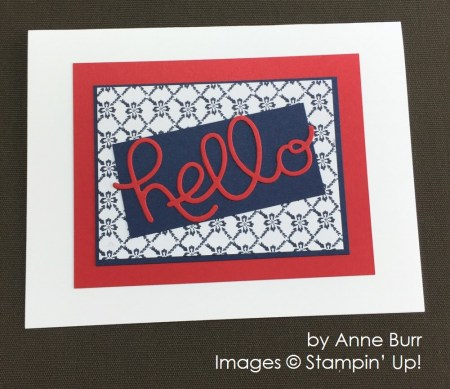 by Anne Burr, Stampin' Up! swap card