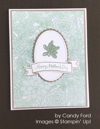 by Candy Ford, Stampin' Up! swap card
