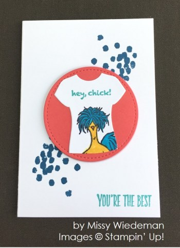 by Missy Wiedeman, Stampin' Up! swap card