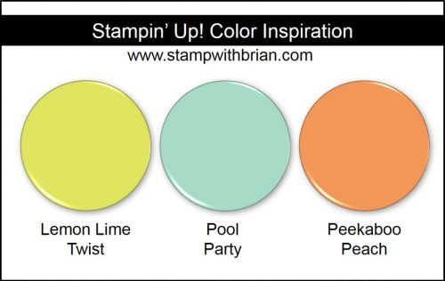 Stampin' Up! Color Inspiration: Lemon Lime Twist, Pool Party, Peekaboo Peach