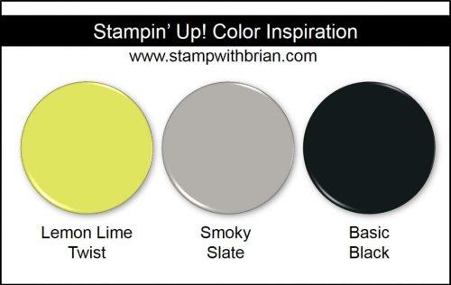 Stampin' Up! Color Inspiration: Lemon Lime Twist, Smoky Slate, Basic Black