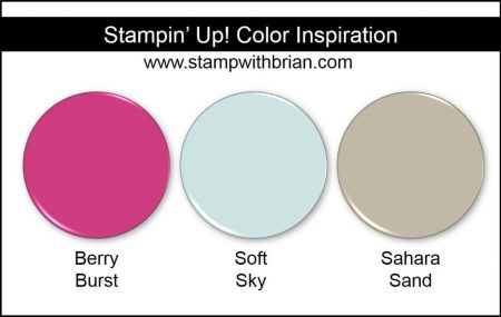Stampin' Up! Color Inspiration: Berry Burst, Soft Sky, Sahara Sand