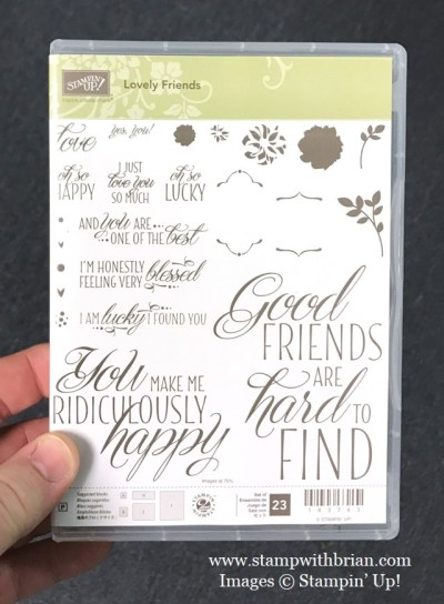 Lovely Friends stamp set, Stampin' Up!, Brian King