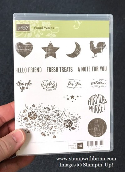 Wood Words, Stampin' Up!