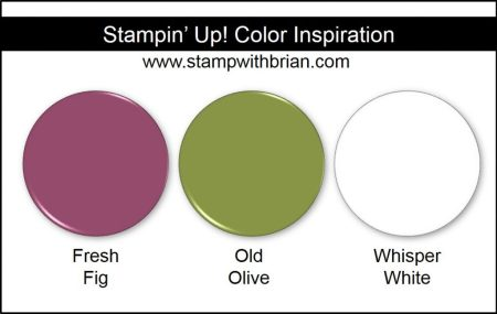 Stampin' Up! Color Inspiration: Fresh Fig, Old Olive, Whisper White