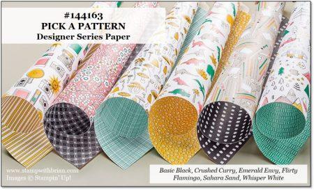 Pick a Pattern Designer Series Paper, Stampin' Up!