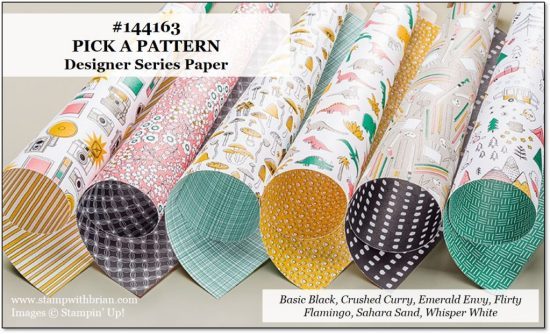 Pick a Pattern Designer Series Paper, Stampin' Up!