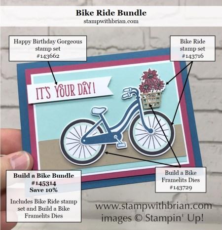 Bike Ride, Happy Birthday Gorgeous, Stampin' Up!, Brian King, GDP092