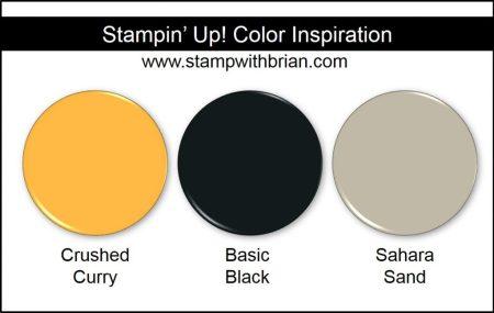 Stampin' Up! Color Inspiration: Crushed Curry, Basic Black, Sahara Sand
