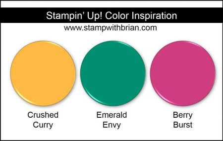 Stampin' Up! Color Inspiration: Crushed Curry, Emerald Envy, Berry Burst