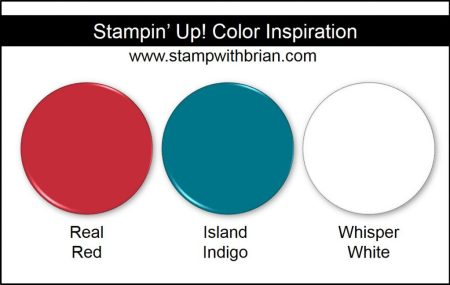 Stampin' Up! Color Inspiration: Real Red, Island Indigo, Whisper White