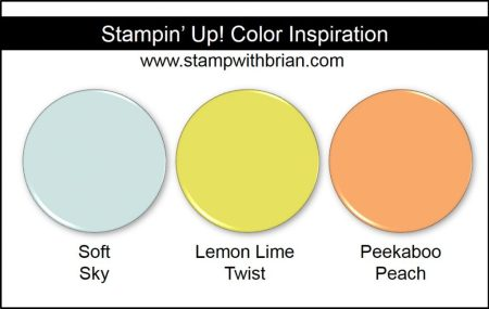 Stampin' Up! Color Inspiration: Soft Sky, Lemon Lime Twist, Peekaboo Peach