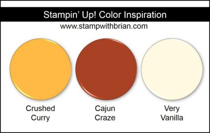Stampin' Up! Color Inspiration: Crushed Curry, Cajun Craze, Very Vanilla