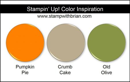 Stampin' Up! Color Inspiration: Pumpkin Pie, Crumb Cake, Old Olive
