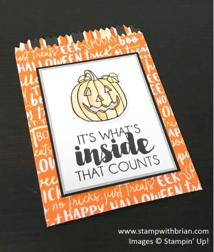 Seasonal Chums, Tags & Trimmings, Mini Treat Bag, Stampin' Up!, Brian King, Halloween treat bag