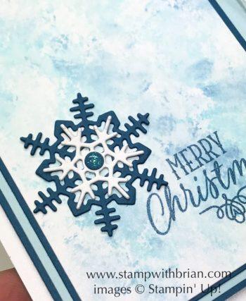 Seasonal Layers Thinlits, Hang your Stocking, Stampin' Up!, Brian King, Christmas card