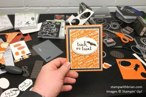 Creep it Real, Spooky Night Designer Series Paper, Stampin' Up!, Brian King, Halloween card