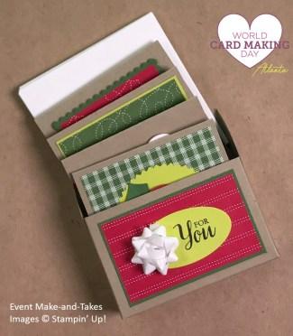 "3"" x 3"" cards gift box, WCMD2017 Make-and-Take, Stampin' Up!"