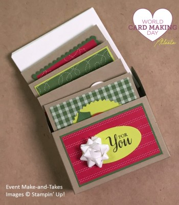"3"" x 3"" cards gift box, WCMD2017 Make-and-Take, Stampin' Up!"