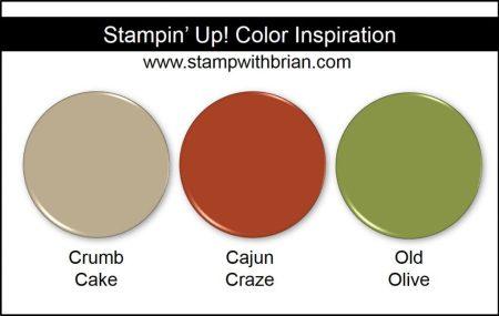 Stampin' Up! Color Inspiration: Crumb Cake, Cajun Craze, Old Olive