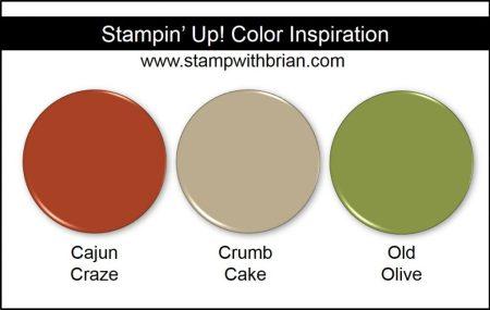 Stampin' Up! Color Inspiration: Cajun Craze, Crumb Cake, Old Olive