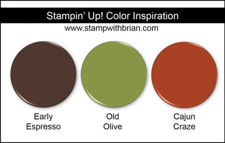 Stampin' Up! Color Inspiration: Early Espresso, Old Olive, Cajun Craze