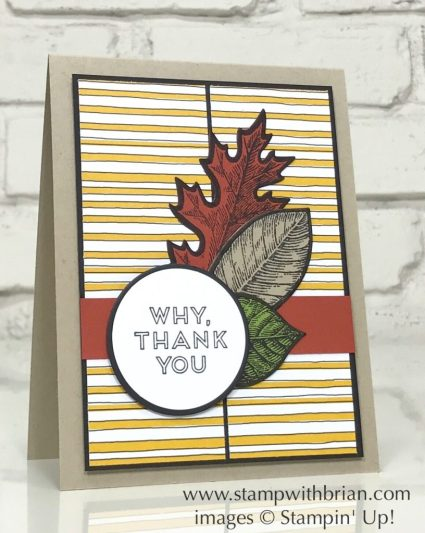 Pieces & Patterns, Vintage Leaves, Stampin' Up!, Brian King, GDP110
