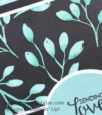 Merry Little Christmas Designer Series Paper painted with Stampin' Blends, Stampin' Blends, Stamin' Up!, Brian King