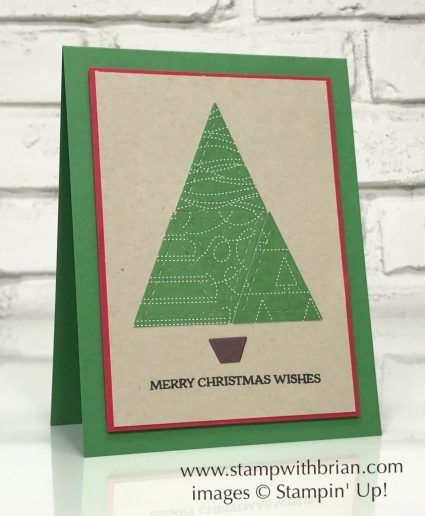 Santa's Sleigh, Quilt Builder Framelits Dies, Stampin' Up!, Brian King, Christmas card