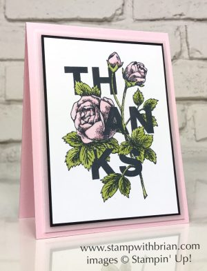 Floral Statements, Stampin' Up!, Brian King, thank you card