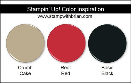 Stampin' Up! Color Inspiration: Crumb Cake, Real Red, Basic Black
