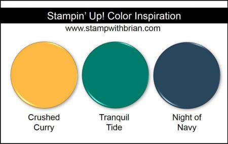 Stampin' Up! Color Inspiration: Crushed Curry, Tranquil Tide, Night of Navy