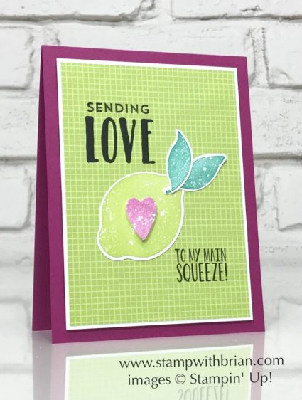 Lemon Zest, Lovely Inside and Out, Stampin' Up!, Brian King, FabFri128, Valentine's Day card
