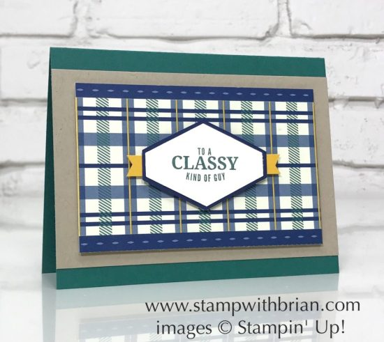 Truly Tailored, Tailored Tag punch, True Gentleman Designer Series Paper, Stampin' Up!, Brian King, masculine card