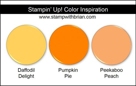 Stampin' Up! Color Inspiration: Daffodil Delight, Pumpkin Pie, Peekaboo Peach