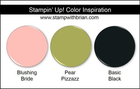 Stampin' Up! Color Inspiration: Blushing Bride, Pear Pizzazz, Basic Black