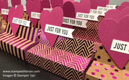 Foil Frenzy Valentine treat wrap, Stampin' Up!, Brian King