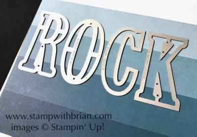 Line up the letters against the pattern on the Color Theory Designer Series Paper with the Magnetic Platform for a uniform look, Stampin' Up!, Brian King