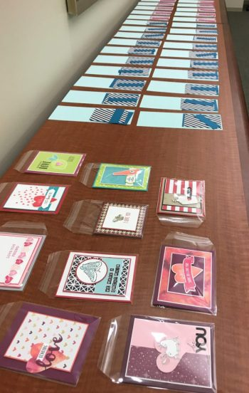 Valentine's Day cards at work, Stampin' Up!, Brian King