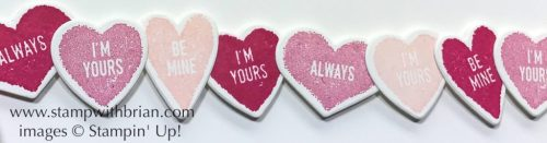 Sure Do Love You, Stampin' Up!, Brian King, conversation hearts, Valentine's Day card
