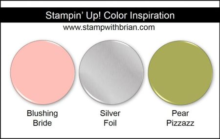 Stampin' Up! Color Inspiration: Blushing Bride, Silver Foil, Pear Pizzazz