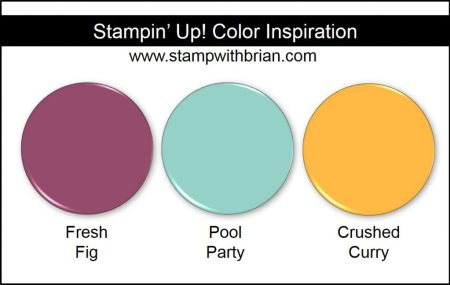 Stampin' Up! Color Inspiration: Fresh Fig, Pool Party, Crushed Curry