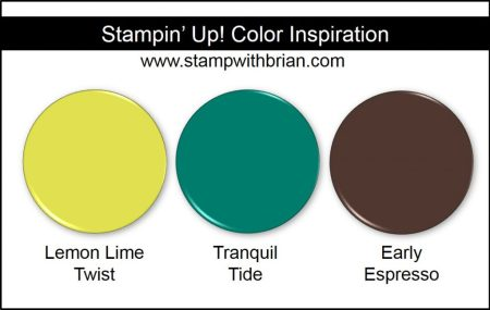 Stampin' Up! Color Inspiration: Lemon Lime Twist, Tranquil Tide, Early Espresso