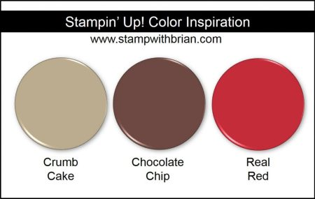 Stampin' Up! Color Inspiration: Crumb Cake, Chocolate Chip, Real Red